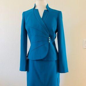 NEW Tahari Blue Skirt Suit